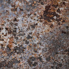 Rusted old steel background