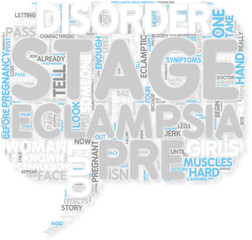 Concept of 4 Stages of Eclampsia