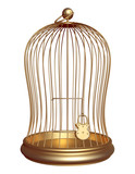 Golden Cage closed padlock