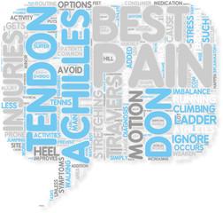 Concept of Don t Ignore Achilles Heel Pain