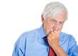 Sad, depressed, lonely, unhappy old man, senior executive