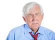 Sad, depressed, lonely, thoughtful old man, senior executive