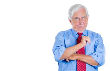 Unhappy, annoyed, grumpy, skeptical old man