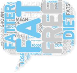 Concept of Escape the Fat Free Diet Trap
