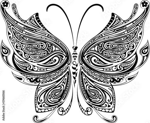Naklejka Butterfly Tattoo