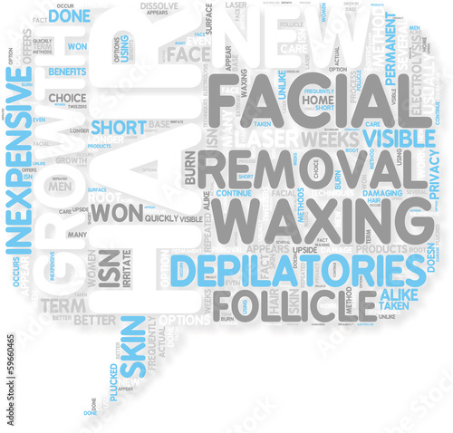 Concept of Facial Hair Removal