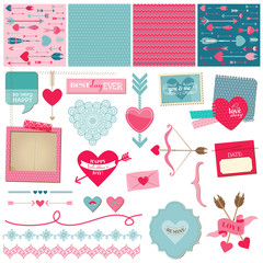 Scrapbook Design Elements - Love, Heart and Valentines