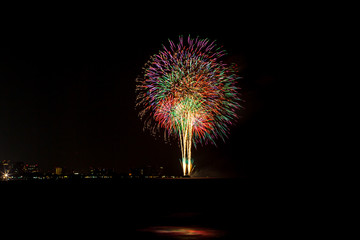 Fireworks in the night at Hua Hin Thailand