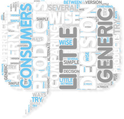 Concept of Generic products can be a wise decision for consum