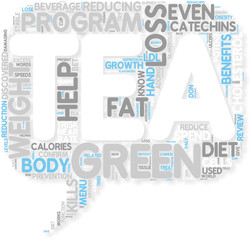 Concept of Green Tea  Works Off Your Pounds