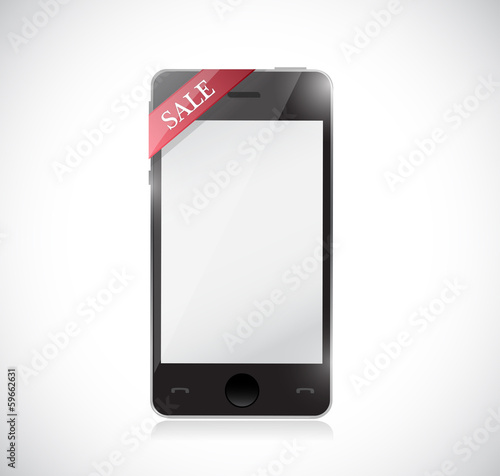 phone and sale tag illustration