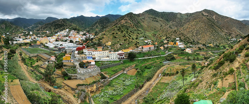 Vallehermoso panorama in Gomera Island