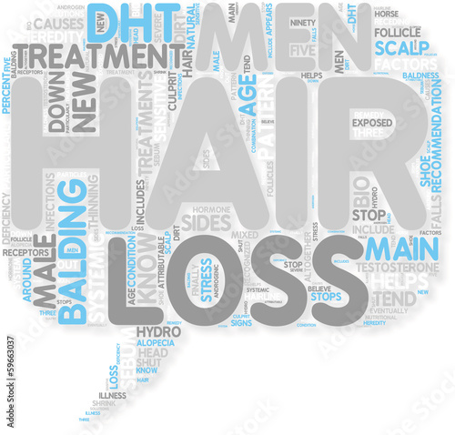 Concept of Hair Loss Treatments for men
