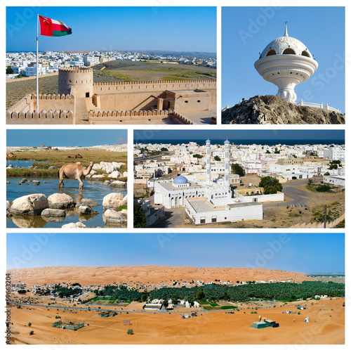 Collage of Images from Oman