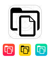 Folder with files icon.
