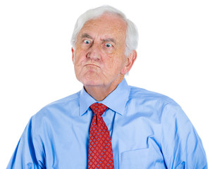 Angry, man, furious, old executive, senior boss