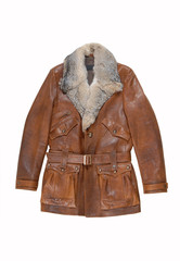 leather male coat