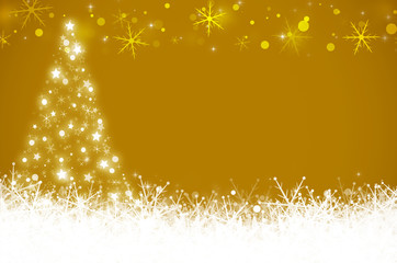 Yellow christmas and New Year background.