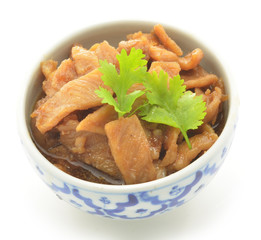Fried sweet pork
