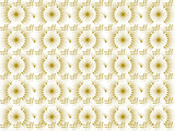 Fabric design with yelow curves and hashtags