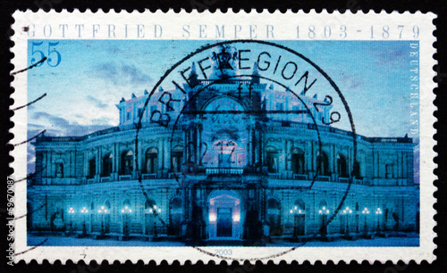 Postage stamp Germany 2003 Opera House, Dresden