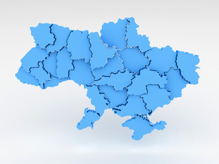 3d map ukraine with regions