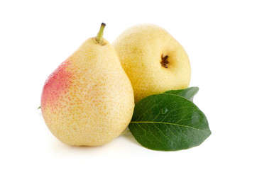 Two ripe pears