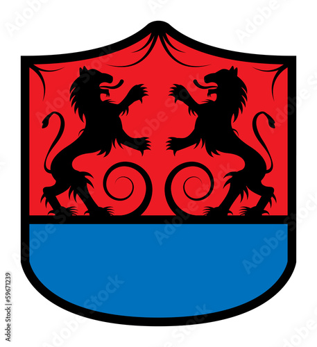 Heraldic emblem, vector illustration
