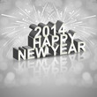 Background for Happy New Year 2014 celebration card design