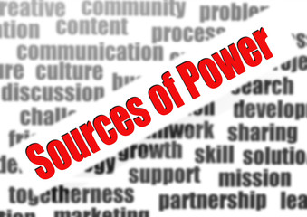 Sources of Power