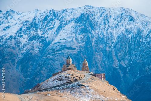 Zdjęcia na płótnie, fototapety, obrazy : Tsminda Sameba Monastery, Kazbegi, Georgia