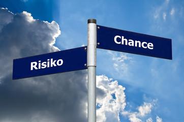 Wegweiser Risiko Chance