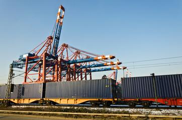 Transport Hafen Schiene