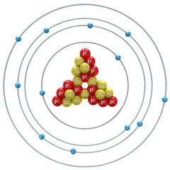 Magnesium atom on a white background
