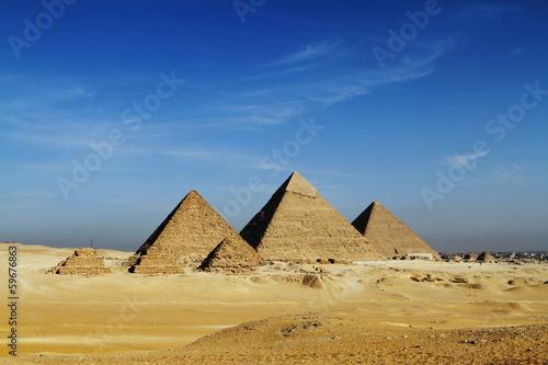 Foto op Canvas Bedehuis Die Pyramiden von Gizeh
