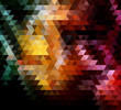 colours of earth triangles vector geometric background ai