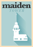 Vintage Maiden Tower Poster