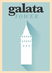 Vintage Galata Tower Poster