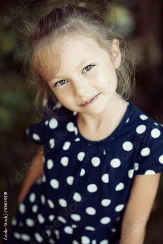 Cute little girl portrait outdoor