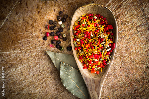 spices in a spoon - 59678477