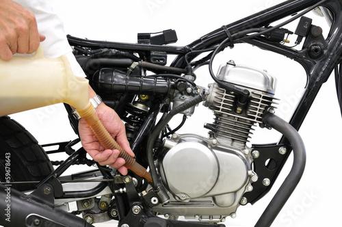 バイクのエンジンオイル交換