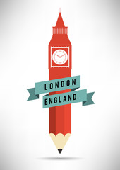 Pencil with Big Ben