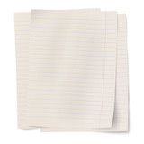 Vector stack of notebook paper sheets isolated on white backgrou