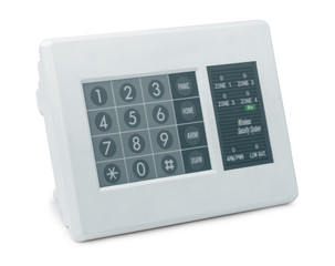 Wireless security system control pad