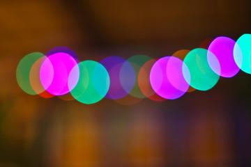 Bokeh lights. Beautiful Christmas background.