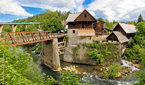 Village of Rastoke river canyon