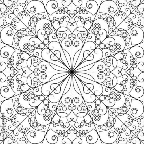 Patterned background. Arabesque ornament