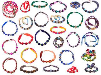 handmade silk women necklace