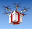Drone with the gift