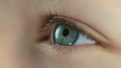 Human eye. Close-up